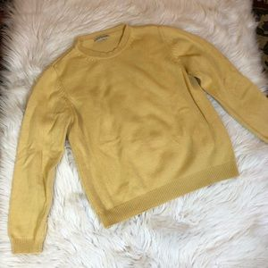 Ann Taylor Yellow Crew Neck Sweater Size Med